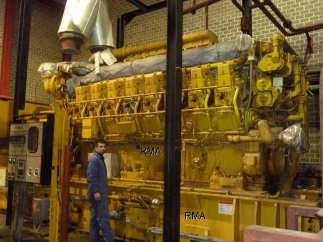 3655kw Caterpillar Natural Gas Engine Generator Sets G3616 4 Sets For Sale